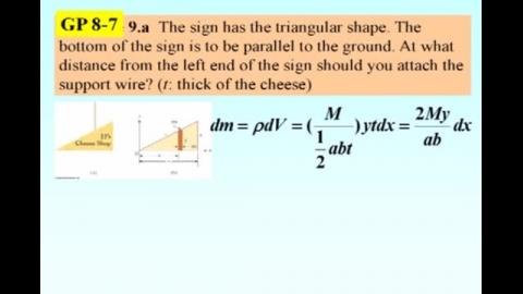 Example: CM of a triangular shape