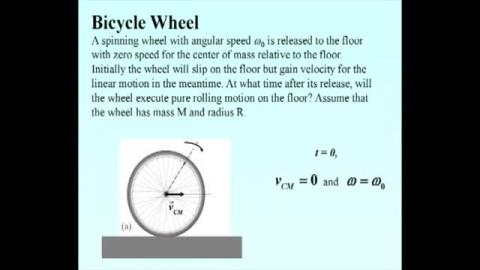 Rolling problem: bicycle wheel