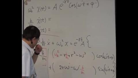 Solution of the damped oscillation