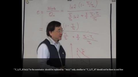 Maxima thermodynamic efficiency