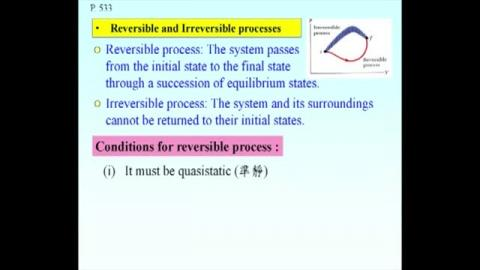 Irreversible vs reversible processes and quasi-static