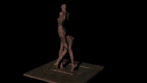 3D建模 - 行走的女人