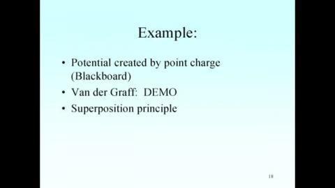 Potential in Van der Graff