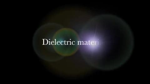 Prelude: dielectric materials