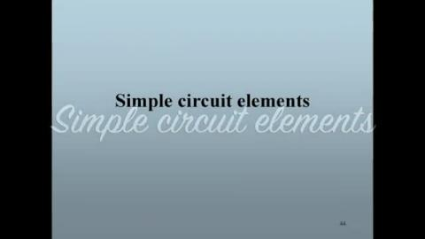 Simple circuit elements