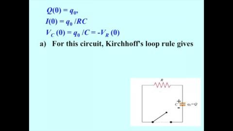 Discharging in a RC circuit