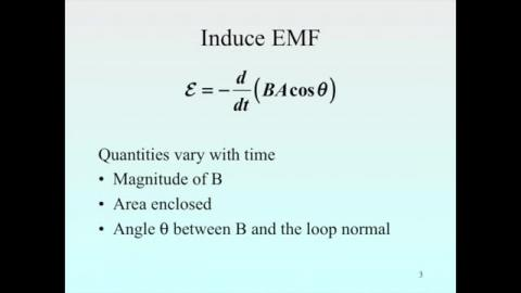 Magnetic field is time dependence: summary