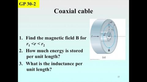 Example: L of the coaxial cable