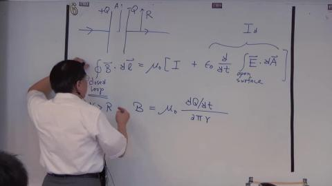 Displacement current in charging a capacitor (cont.)