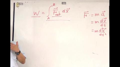 Example: force as function of position