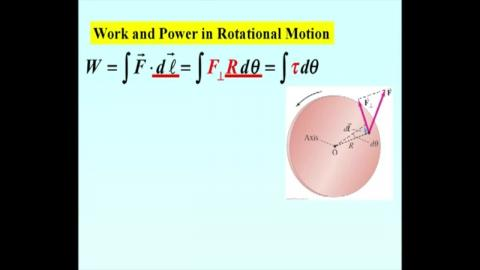 Work and Power in rotation