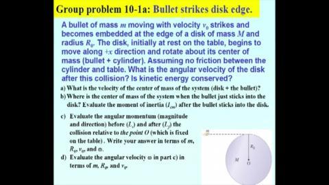 GP10-1a: bullet strike a disk