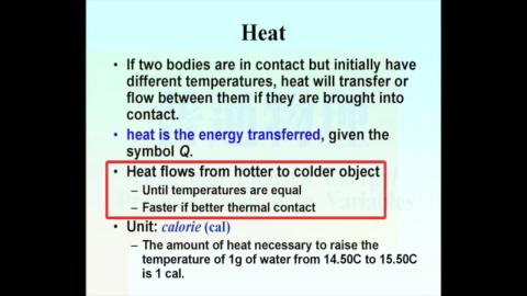 Heat, Heat transfer, and thermal equilibrium (the 0th law of TD)
