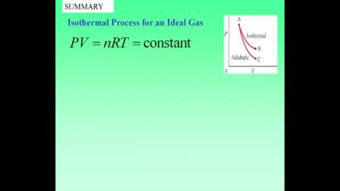 Comment on isothermal and adiabatic process