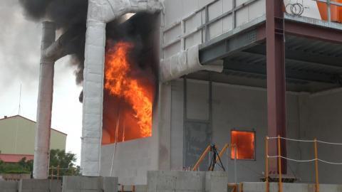 成大土木系完成國內首次戶外實尺寸鋼構架屋火災實驗