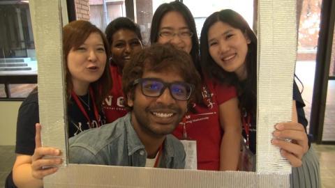 成大秋季班外國新生研習會  500外籍生參加