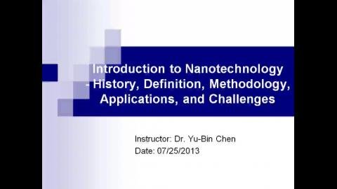 Introduction to Nanotechnology – History, Definition, Methodology, Applications and Challenges