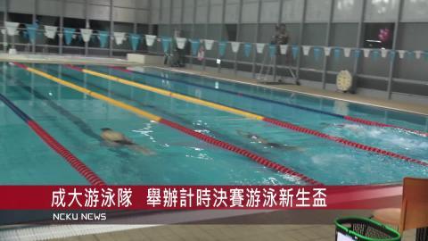 【影音】成大游泳隊  舉辦計時游泳新生盃決賽