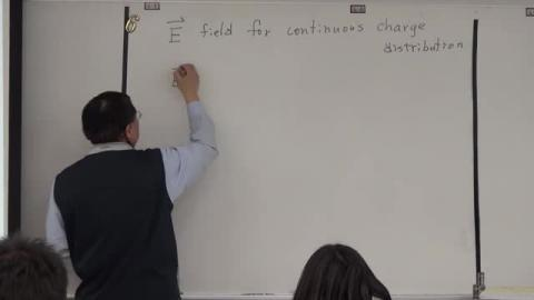 Electric field for continuous charge distribution