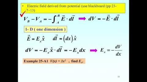 More on E = - grad V