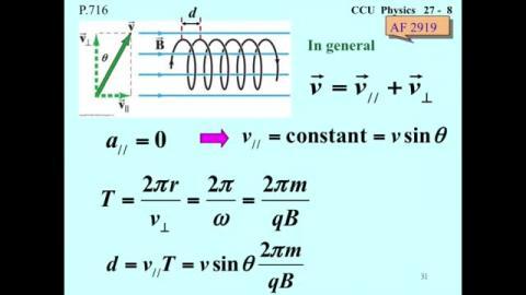 Cyclotron motion (cont.)