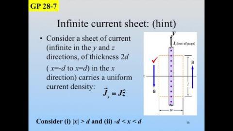 Infinite current sheet –II