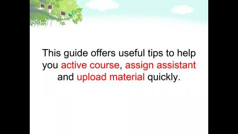 Quick start guide - Moodle instruction