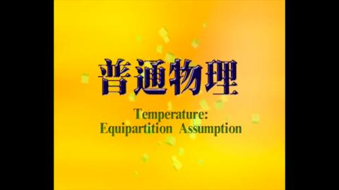 Temperature and equipartition assumption