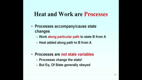 Processes and state variables