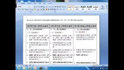 線上補強英文暨系(所)課程國際標竿評比說明會