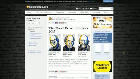 重力波直接發現奪2017諾貝爾物理獎  成大游輝樟開講