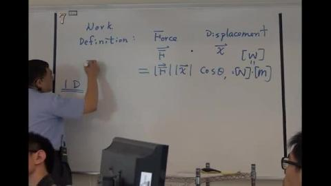 Work and Kinetic energy (1D)